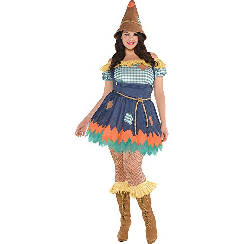 SUIT YOURSELF Scarecrow Halloween Costume for Women, Wizard of Oz, Plus Size, Includes