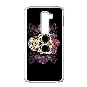 LG G2 Phone Cases White Sugar Skull Cover BOK506158