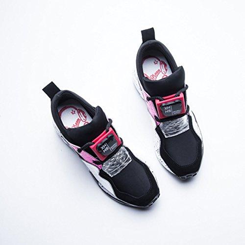 Rojo Verano Mujer Color Tie Mujer Otoño Cuero Casual Mixed para Zapatos Zapatillas Primavera 35 Zapatos para para tamaño Colors Plataforma para Mujer Casuales y Zapatos wB51nRXnq