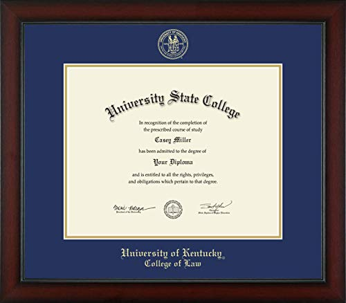 - University of Kentucky College of Law - Officially Licensed - Gold Embossed Diploma Frame - Diploma Size 15