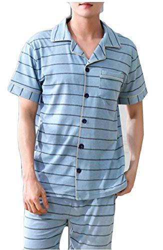 Bagno Casa Moda Pezzi Estate Corta Manica Libero 2 Confortevole Tempo Set Vintage Uomo Sleepwear 6 Pigiama Da qxPTwpn0