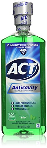 Act Anticavity Fluoride Mouthwash  Mint 18 Fl Oz  Pack Of 3