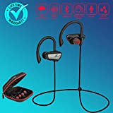 Wireless Earbuds Earphones, Bluetooth Earbuds Headphones Sport Sweatproof Noise Cancelling in-Ear Earbuds Earpiece Headset with Mic HiFi Stereo, Running Bass Earbuds for iOS Android Gym Workout