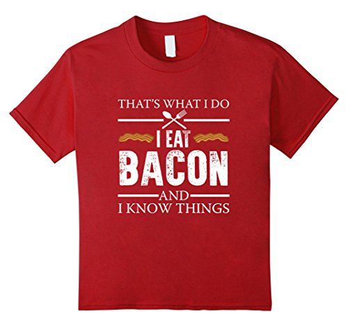 Kids FUNNY BACON AND I KNOW THINGS T-SHIRT Food Meme Saying 8 Cranberry (The Today Show Halloween Costumes)