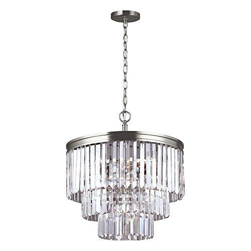 4 light antique silver chandelier