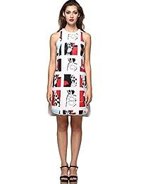 Camii Mia Women's Space Cotton Sleeveless Dress