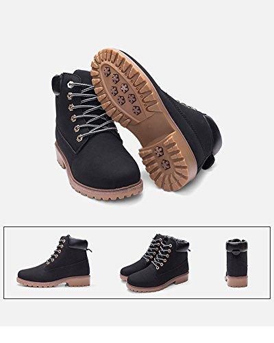 Buchi Ragazza Stivaletti Autunno Nero Donna 6 Martin Corti Boots Moda Stivaletti Stivali Minetom Adulto XawqRx