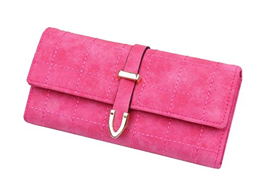 PUUP Long Wallet Vintage Matte Embroidery Thread Multifunctional Lady Purse