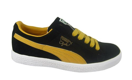 original cheap price free shipping store Puma Clyde Sript Black/Mineral Yellow free shipping best store to get brand new unisex sale online fD1yuCx