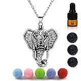 Yaoding Antique Silver Luck Elephant Locket Lava