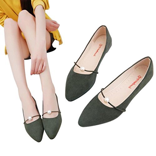 59ad7e348b56 Amazon.com  Gyoume Women Boat Shoes Flat Wedge Shoes Lady Office Shoes  Dress Shoes Party Point Toe Shoes  Sports   Outdoors