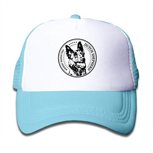 TCJX Funny Dutch Shepherd Mesh Baseball Cap Girl Adjustable Trucker Hat Sky Blue
