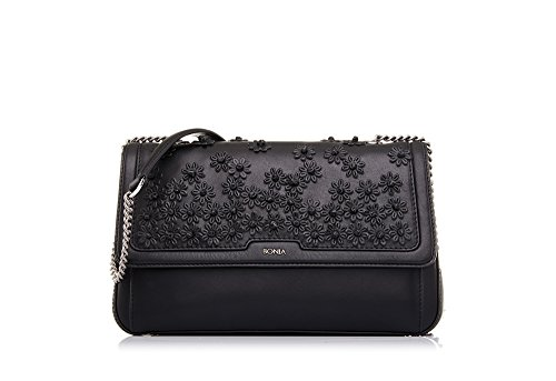 bonia-womans-black-blossom-crossbody-bag-s