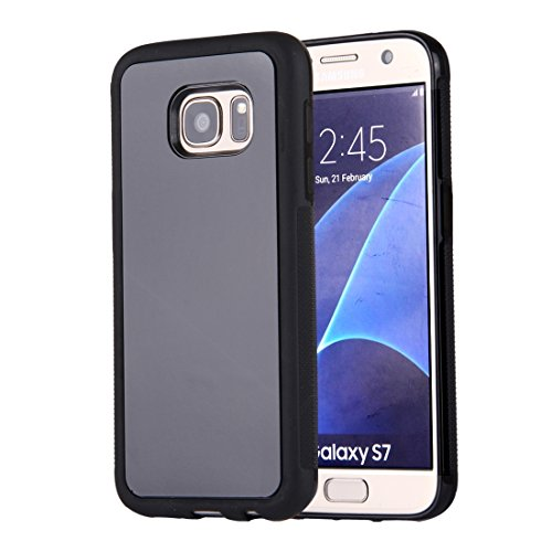Xiaogua Cases   Covers  For Samsung Galaxy S7 G930 Anti Gravity Magical Nano Suction Technology Sticky Selfie Protective Case   Color   Black