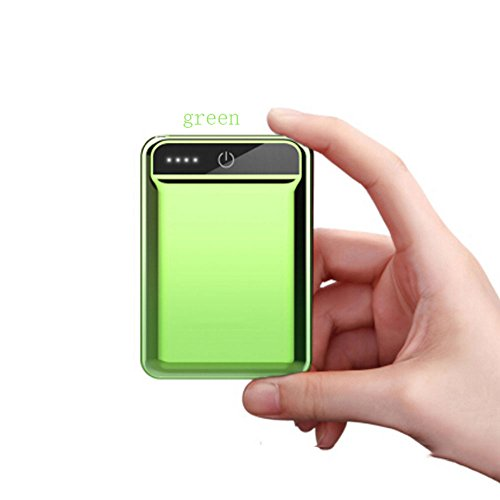 Mini Charging 10000mAh Portable Lightweight Ultra-Small Mobile Power Mobile Phone Universal (Color : Green)