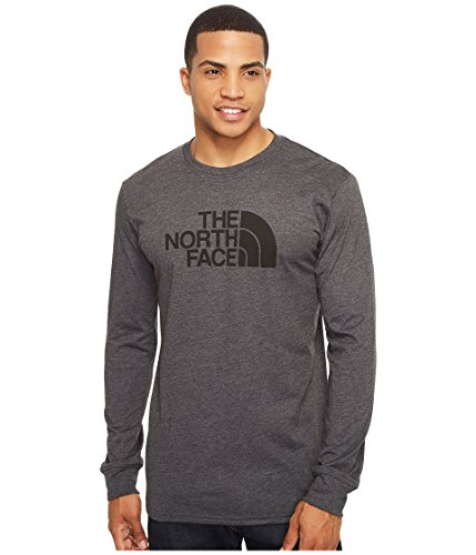 the-north-face-mens-l-s-half-dome-tee-tnf-dark-grey-heather-tnf-black-l