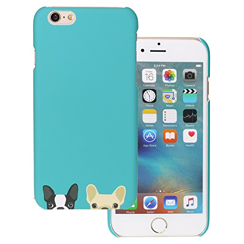 Price comparison product image Arunners iPhone 6/6S Case Cover French Bulldog Cute Kawayi - Green