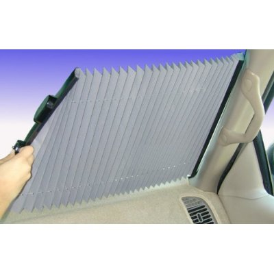 25 inch Universal Fit Retractable Auto Windshield Sunshade for Trucks, Most SUV (Retractable Windshield Sunshade)