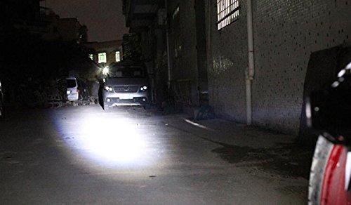 GOODKSSOP 2pcs Super Bright 3000LM CREE U5 125W LED Motorcycle Universal Headlight Work Light Driving Fog Spot Lamp Night Safety Headlamp + 1pcs Switch (Black) by GOODKSSOP (Image #7)