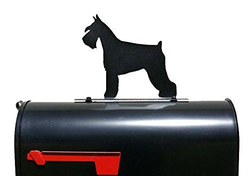 Schnauzer Dog Silhouette Mailbox Topper / Sign by NewnanMetalWorks