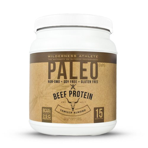 Wilderness Athlete Paleo(ish) Beef Protein, Vanilla Almond, 14.8 Ounce