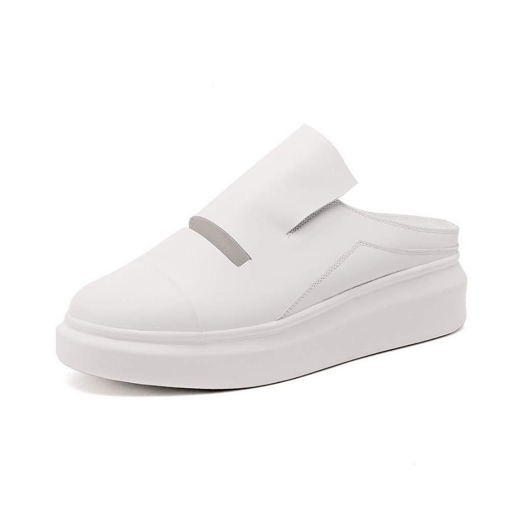 Aimint ERR00139, Sandales Compensées Femme - Blanc - Blanc, 38 2/3