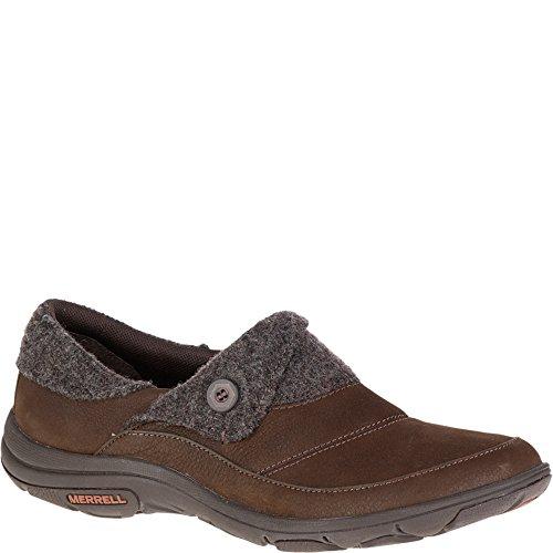Merrell Women's Dassie Fold Moc Slip-On Shoe, Bracken, 5.5 M - Bracken Womens Brown Shoes