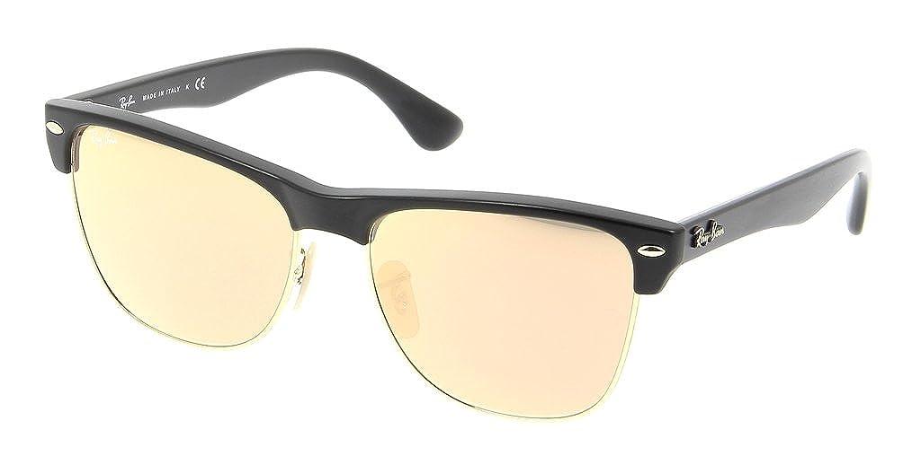 63e8bfdf50c Ray Ban RB4175 877 Z2 57mm Demi Shiny Black Pink Mirror Bundle-2 Items   Amazon.co.uk  Clothing