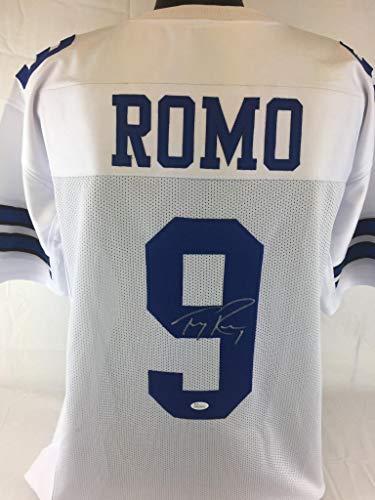 - Tony Romo Signed Jersey - Witness Coa - JSA Certified - Autographed NFL Jerseys