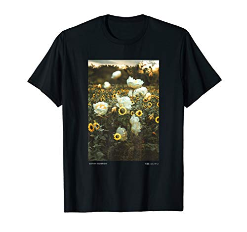 Graphic Floral Streetwear Fashion Sunflower Tee Aesthetic zMpSUV