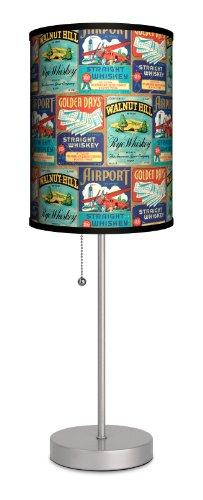 Vintage Labels – Whiskey Labels Sport Silver Lamp