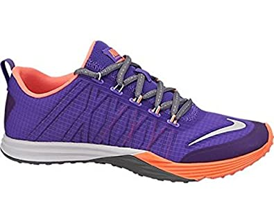 NIKE Lunar Cross Element Ladies Training Shoe, Purple/Orange, US10