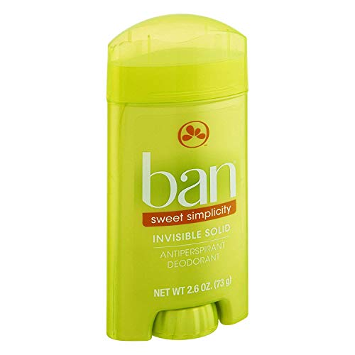 - Ban Invisible Solid Deodorant, Sweet Simplicity - 2.6 oz - 2 pk