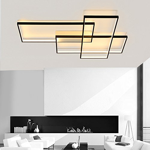 - LightInTheBox Modern LED Ceiling Light Dimmable Flush Mount Wall Light Alumilium Painting Finish Lighting Fixture with Remoter 8000LM 3000/6000K for Living Room Bed Room (Warm White)