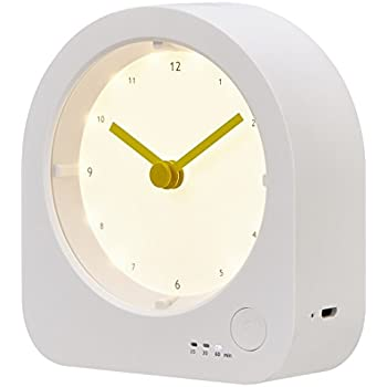 Amazon Com Rtsu Rechargeable Desk Clock With Dimmable Led