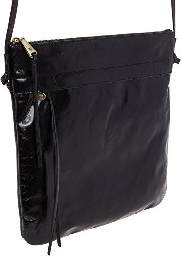 Hobo Stark Hide Black Leather Womens Bag Crossbody Vintage rr1xqpHCw