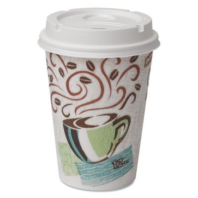 PerfecTouch Coffee Haze Grab N Go 12 oz. Cup and Lid Pack (Set of 6) by Dixie