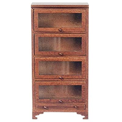 Melody Jane Dollhouse Miniature Study Furniture Barristers Bookcase 4 Glass Doors: Toys & Games