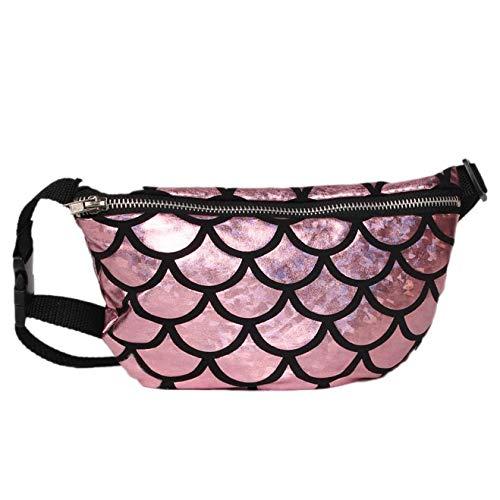 ForShop New Fanny Pack Women's Handbags Purse Double Color Sequins Chest Waist Bag Women Belt Bag Waist Leg Bag Waist Pack