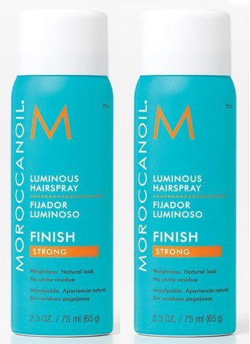 Moroccanoil Luminous Strong Hold Hairspray Travel Size 2.3oz Pack of 2!
