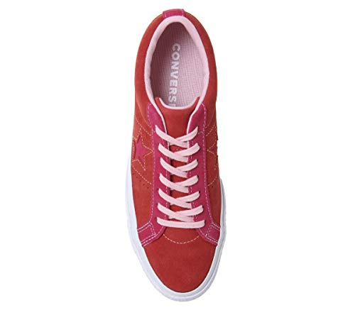 enamel Basses 603 Adulte Sneakers Converse Lifestyle Mixte Ox Star Multicolore pink Pop Red One CSSBqWwUZ