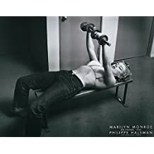 Marilyn Monroe with Weights Halsman Movie Star Sex Symbol Exercise Print 22x28