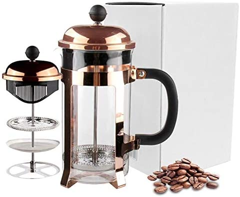 VERTRAUEN Elegant Rose Gold French Press Coffee Maker