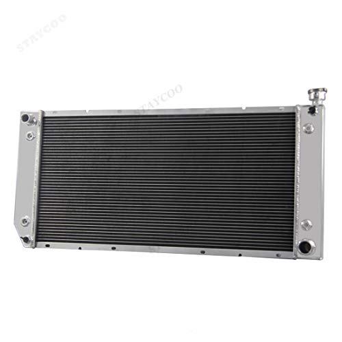 "STAYCOO 3 Row All Aluminum 34"" Core Radiator for 1988-2000 Chevrolet &GMC C/K 1500 2500 3500 Pickup - Direct Replacement"