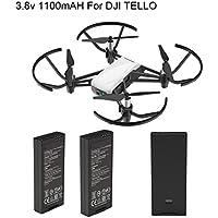 Rucan For DJI Tello Quadcopter Drone Intelligent Flight Battery 1100 mAh 3.8V (2PC)