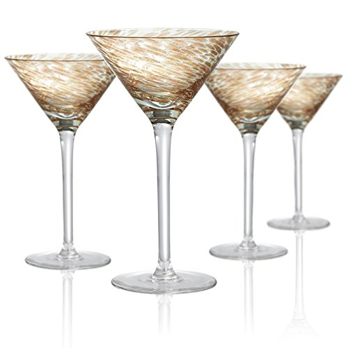 Artland Misty martini Glass, Set of 4, 8 oz, Clear