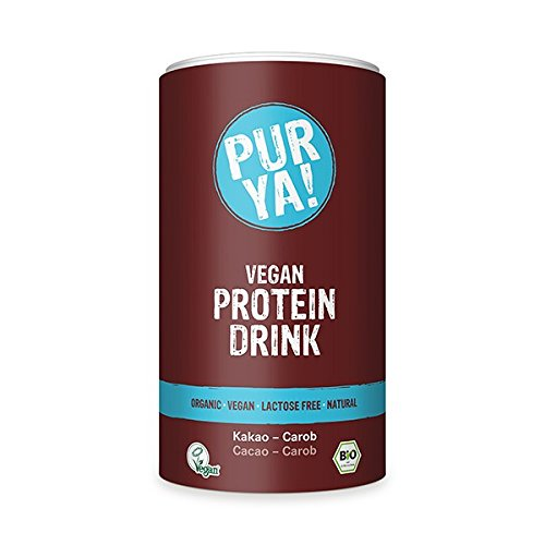 Purya Bio Vegan Protein Drink Cacao-Carob, 1er Pack (1 x 550 g)