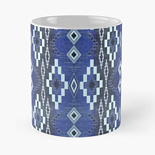 (Geo Tribal Southwest Santa Fe - Ceramic Novelty Mugs 11 Oz, Funny Gift)