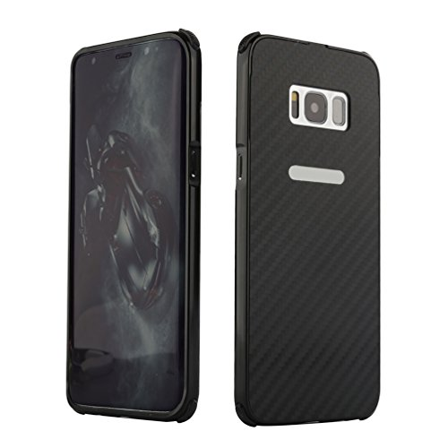 Grotech Galaxy S8 Plus Case Heavy Duty Armor Shock Proof Carbon Fiber Textured Metal Frame Scratch Resistant Rugged Case for Samsung Galaxy S8 Plus (Black) ()
