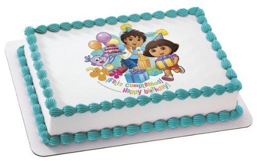 DORA THE EXPLORER BIRTHDAY FELIZ CUMPLEANOS Edible Image ...